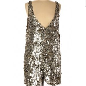 Free People Women's Gold Sleeveless Romper